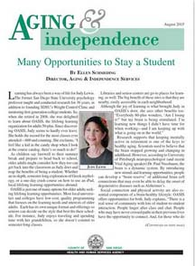 Aging and Independence Services- August 2015- e-bulletin