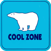 COOL ZONE logo- County of San Diego HHSA Aging annd Independence Services