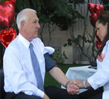 Chairman Supervisor Ron Roberts gets his blood pressured checked as part of the Love Your Heart campaign