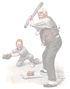grandparents have passed down life lessons to their grandchildren- from teaching them how to throw a baseball
